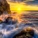 Best Malibu Sunset! Red, Yellow, Orange Clouds! Magical El Matador Beach Sunset! Nikon D810 HDR Photos Dr. Elliot McGucken Fine Art Photography!  14-24mm Nikkor Wide Angle F/2.8 Lens ! by 45SURF Hero's Odyssey Mythology Landscapes & Godde