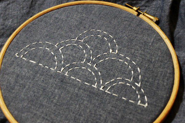 Cloud embroidery