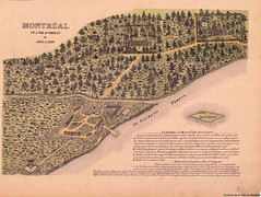 1645-1650. Montréal, vue à vol d'oiseau. VM066-1-P005. Archives de la Ville de Montréal.
