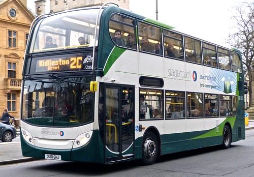 OU10 GHJ 'Stagecoach Oxfordshire' 12018 Dennis Trident 2 / ADL Enviro 400 Hybrid on Dennis Basford's 'railsroadsrunways.blogspot.co.uk