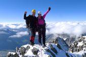 Auf dem Gipfel des Piz Bernina, 4049 m. Foto: Günther Härter.