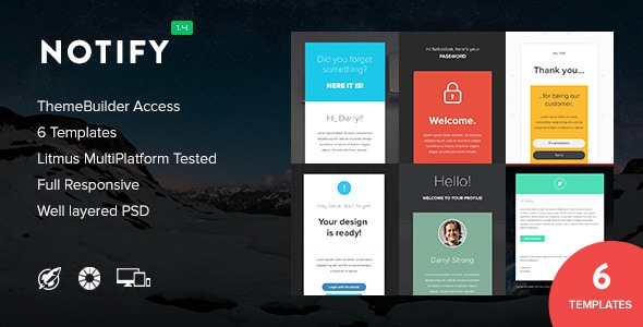 Notify v1.4 – Notification Email + Themebuilder Access