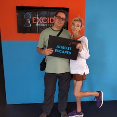 The birthday celebration starts more than a week early. We were close to solving the last puzzle. #escaperoom