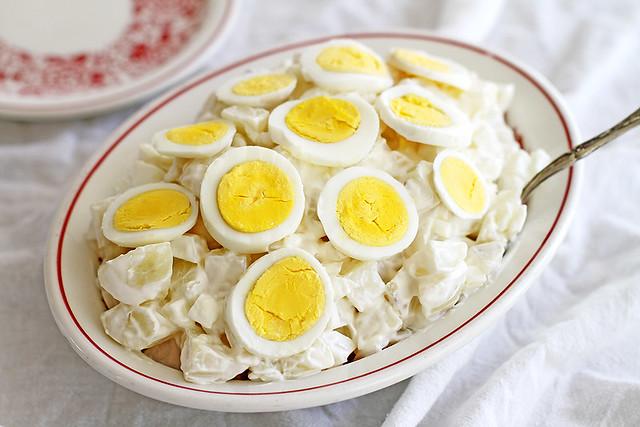 Oma's Creamy Potato Salad | girlversusdough.com @stephmwise