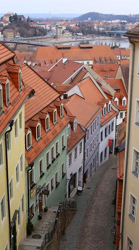 View from Schloßstufen, Meißen
