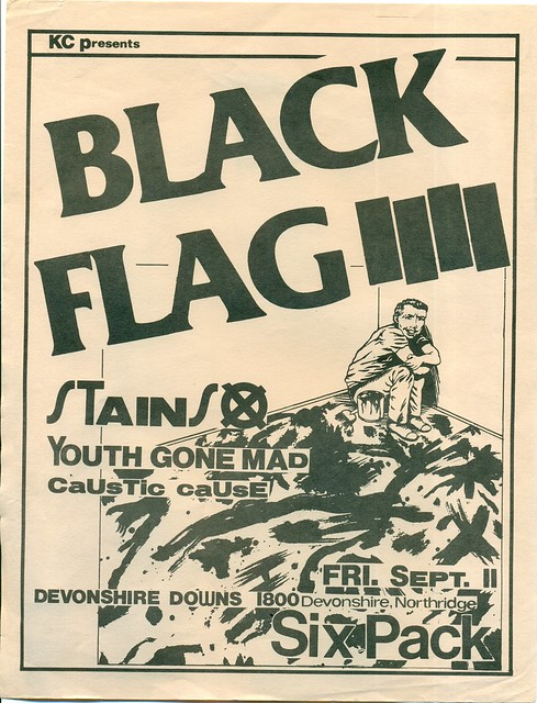 BLACK FLAG & STAINS AT DEVONSHIRE DOWNS, LOS ANGELES, CA 1981