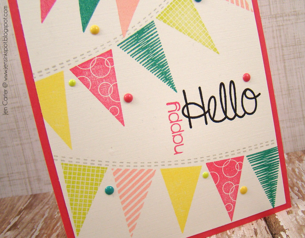Jen Carter Whimsy Hello Banners Closeup