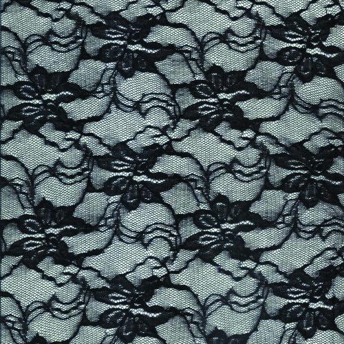 黑色簡約蕾絲 典雅晚宴 喜慶 禮服 裝飾服裝布料 LE490199