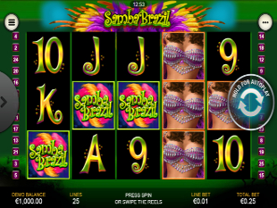 Samba Brazil Mobile slot game online review
