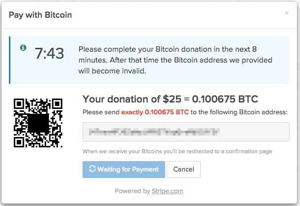 QR code for Bitcoin send