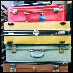 leather, baggage, suitcase,
