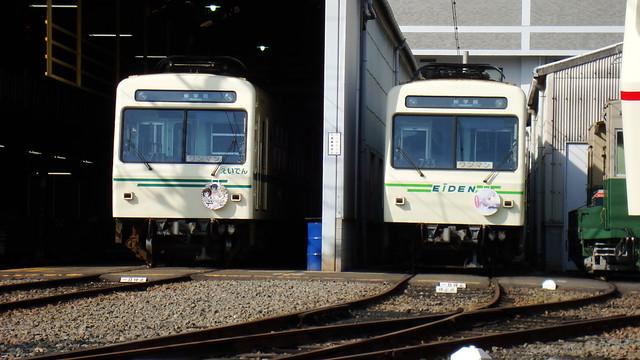 2015/04 叡山電車×きんいろモザイク ラッピング車両 #02 with NEW GAME!車両