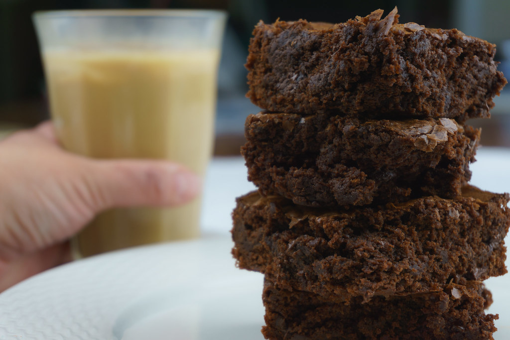 Brownies and Ice Coffee