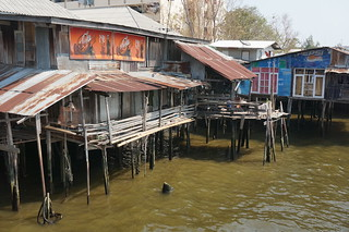 Shacks along the river