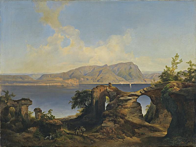 Anton Hansch - Blick auf den Gardasee (1844)