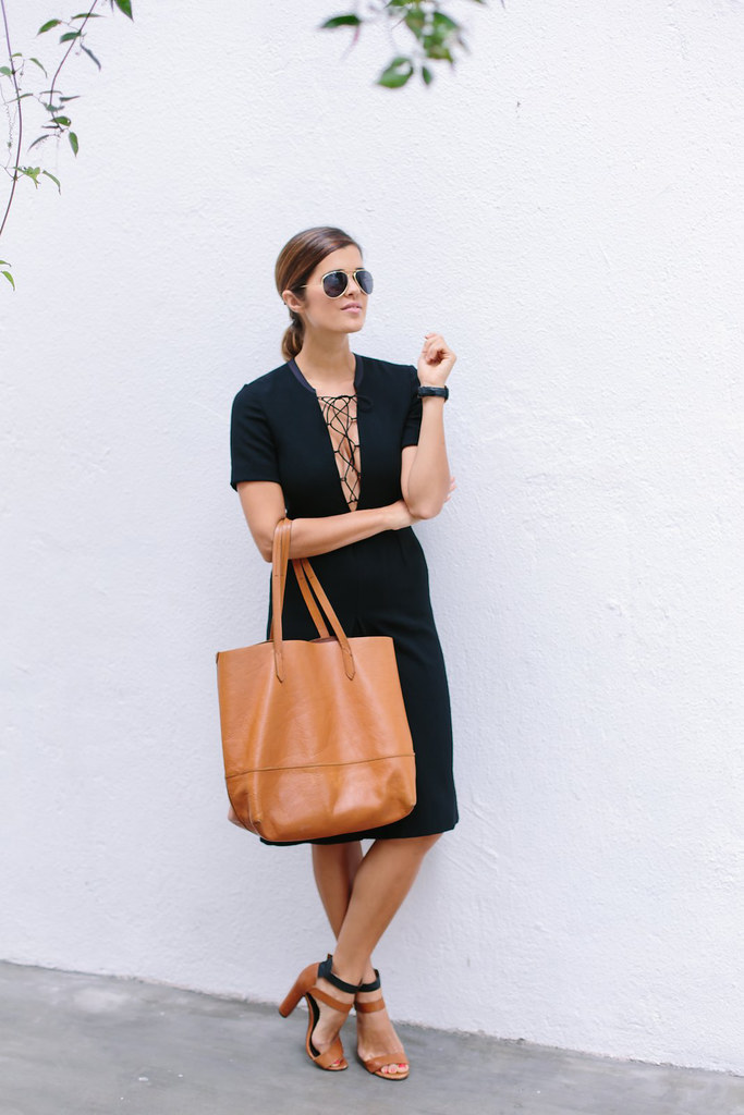 Before and after: the lace up dress