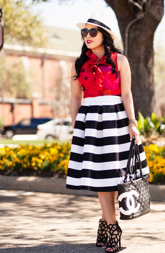 Striped Skirt   Panama Hat - cute & little | Dallas Petite Fashion ...