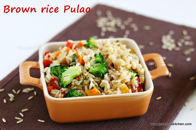 Brown rice-pulao
