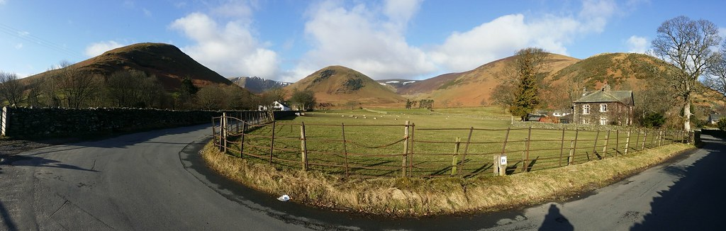 Mungrisdale panorama of Souther Fell to Bowscale Fell #sh
