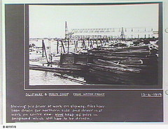 Water front view of slipway & workshop at Poole & Steel, Osborne. - Photograph courtesy of the State Library of South Australia