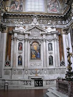 Filomarino Chapel (about 1638-1647) - Architect Francesco Borromini (Bissone 1599-Rome 1667) - Santi Apostoli Church in Naples