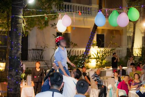 推薦婚宴場地:台南商務會館,米老鼠米奇的特殊結婚婚禮風格互動遊戲--擢氣球4