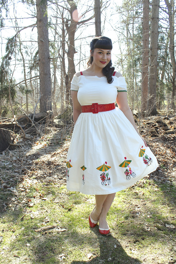tatyana flower cart dress