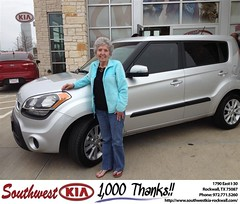 #HappyAnniversary to Betty Dry on your 2012 #Kia #Soul from Kathy Parks at Southwest KIA Rockwall!