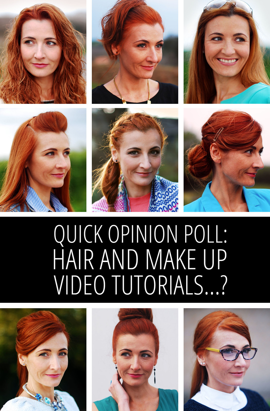 Quick opinion poll: Hair and make up tutorials for the over 40s? Are they of any interest?