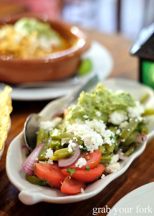 Cactus salad ensalada de nopales at La Cocina de la Abuela, Marrickville