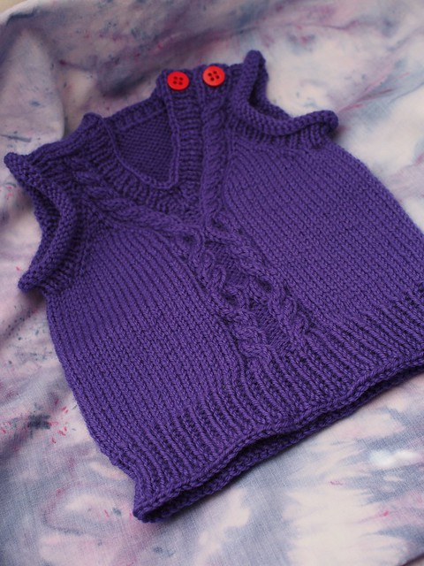 Tiny purple vest