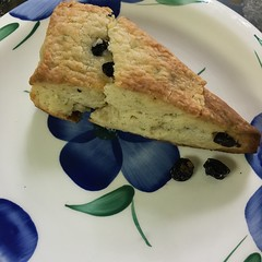 Lime-Blueberry Flaky Scones