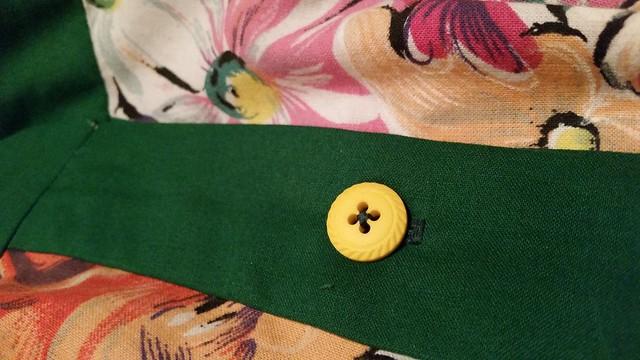Vintage Floral Linen M6696