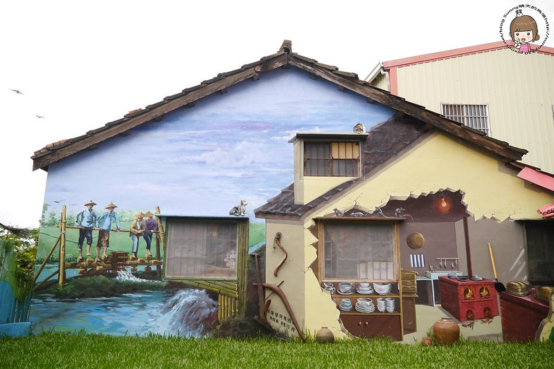 雲林好好玩|二崙湳仔社區鐵道文化3D彩繪豐富且有當地風情值得到此一遊