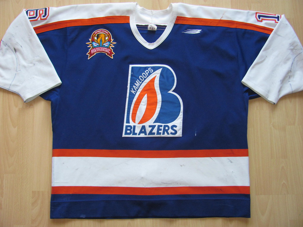 Kamloops Blazers 1998 - 1999 Game Worn Jersey · heavy game wear and team  repairs · SERC Wild Wings 2017 - 2018 alternate ... ee36164e7
