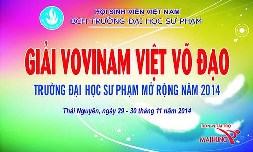 Giải Vovinam trường ĐH Sư phạm Thái Nguyên mở rộng năm 2015 - Nơi kết nối những đam mê