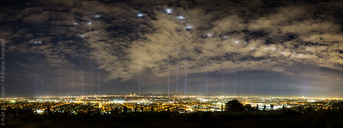 california park ca city trees sky people panorama grass silhouette skyline night clouds canon lights la losangeles downtown glow state marathon photographers spotlight course beam ii asics friday overlook 13th beams centurycity 28l culvercity lamarathon baldwinhills 2470mm ptgui lightsonla