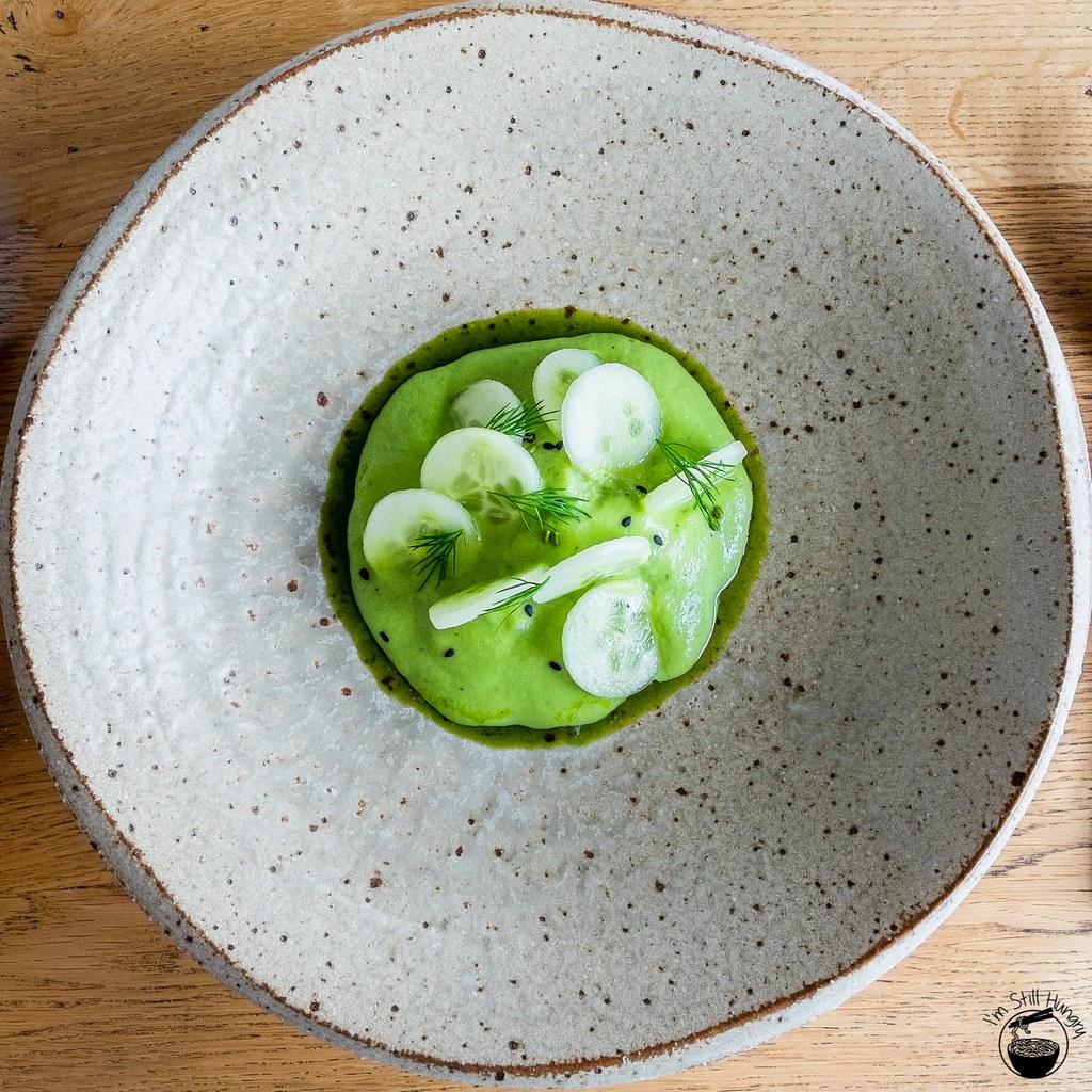 LuMi Dining Pyrmont Calamari & scampi w/cucumber, yoghurt & fennel