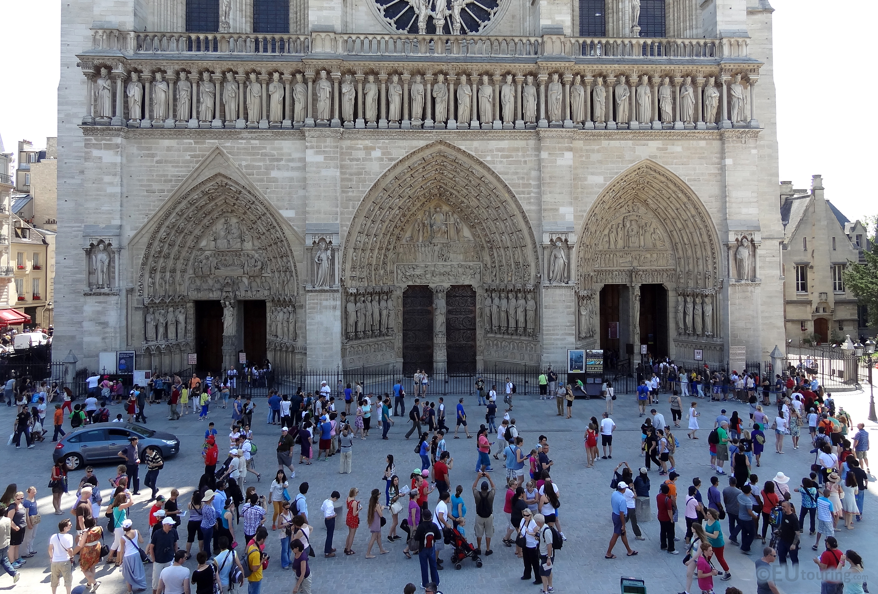 The front of the Notre Dame