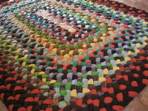 Custom Rectangular Wool Braided Carpet