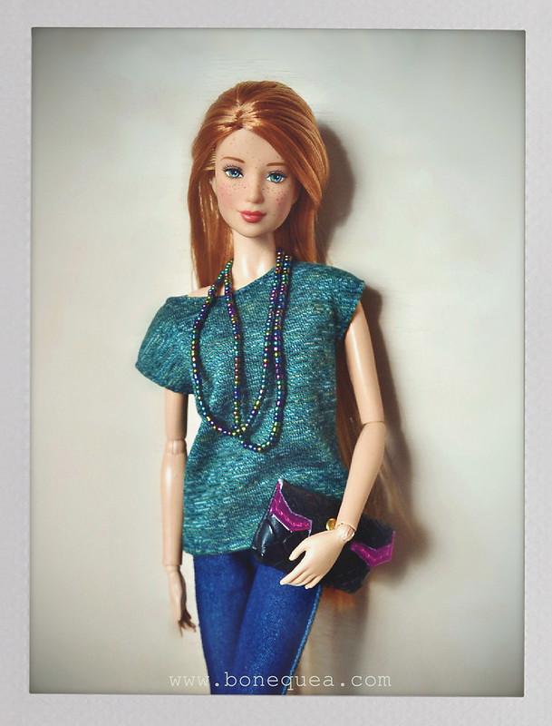 Camiseta verde para Barbie