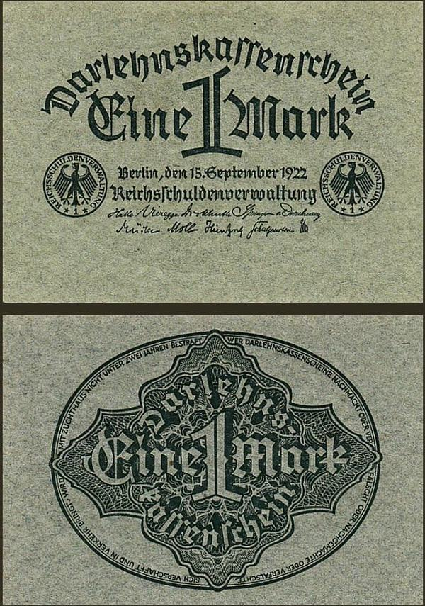 1 Marka Nemecko 1922, Pick 61