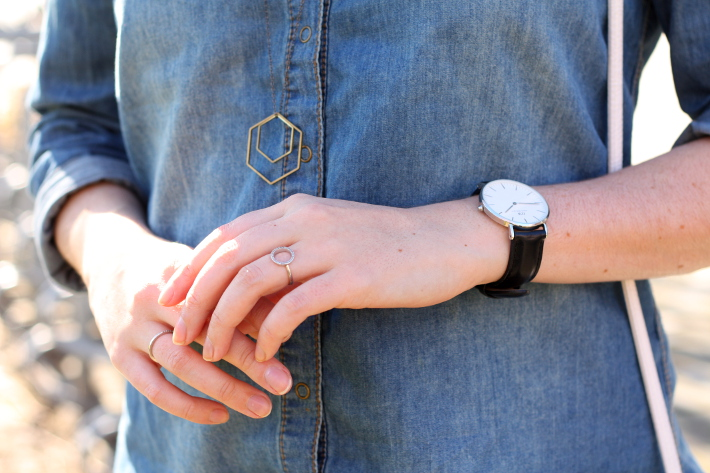 outfit: daniel wellington watch, diamanti per tutti rings, lobogato necklace