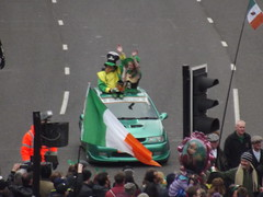 St Patrick's Day Parade 2015 - Digbeth - green car