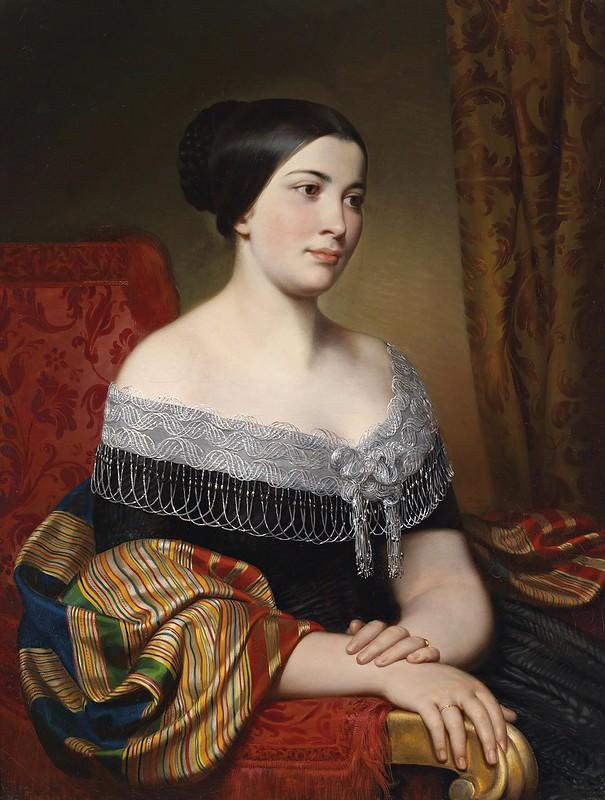 Carl von Blaas - Porträt Gegenstücke (1846)