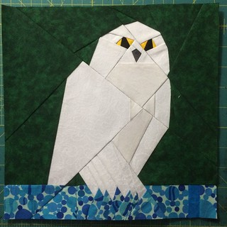 Week 11, Hedwig block for my personal quilt