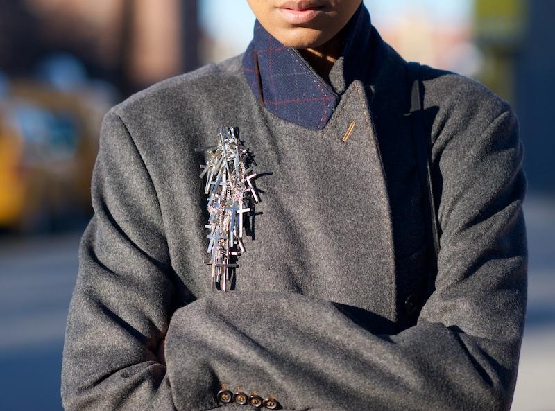 grey mens coat