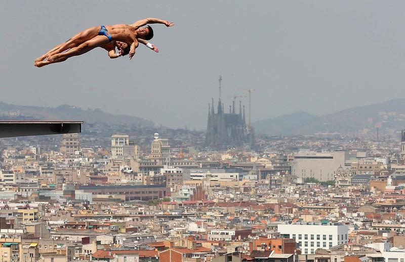 saltadores Piscina Municipal de Montjuic