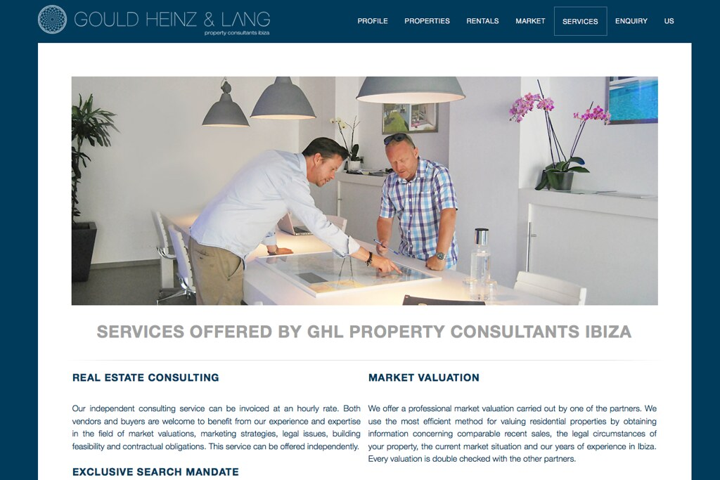 Gould Heinz & Lang, website relaunch