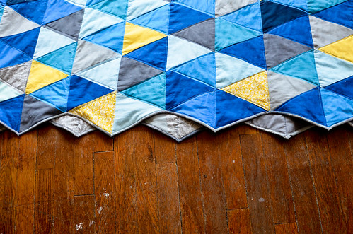 Triangle Quilt: Binding